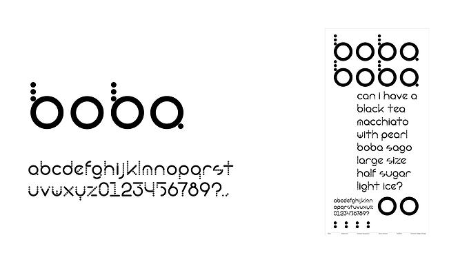 Typeface Design: Boba