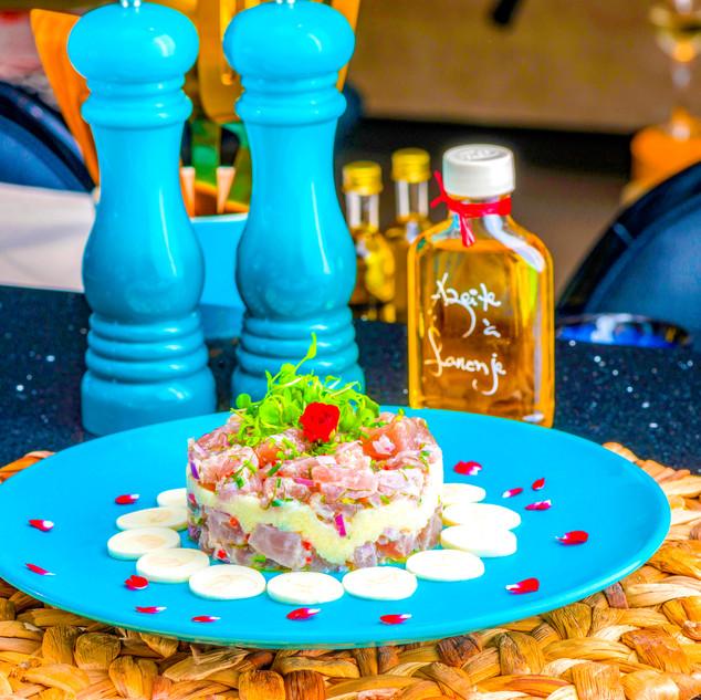 Tartalet de Salmão e palmito pupunha