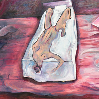 study of a woman reclining in bed