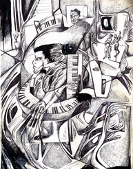 the thousand key piano player