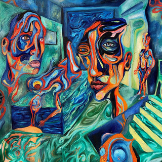 Four Figures In A Room