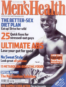 Dumi, a Personal Trainer, has appeared on the cover of Men's Health