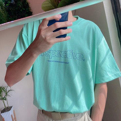 PERSPECTIVE Korean Shirt [MINT/PURPLE] Unisex