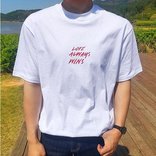 LOVETEE Korean Shirt UNISEX [WHITE/NAVY]