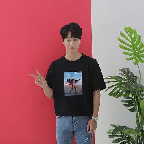 Skater Korean Shirt UNISEX [BLK]