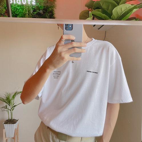 PERSONAL Korean shirt [WHITE/GRAY]