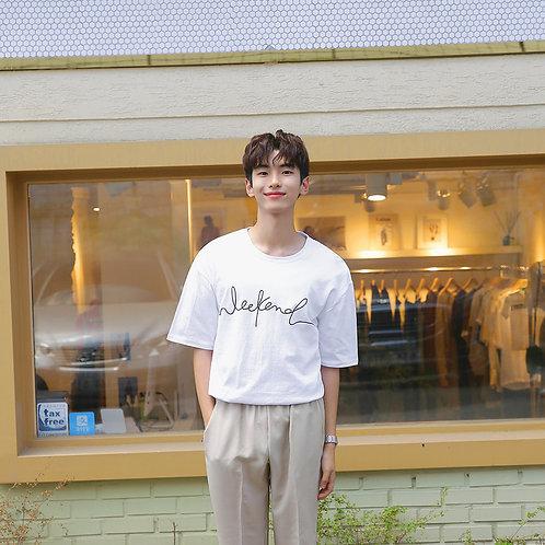WEEKEND Korean Shirt [BLK/WHT]
