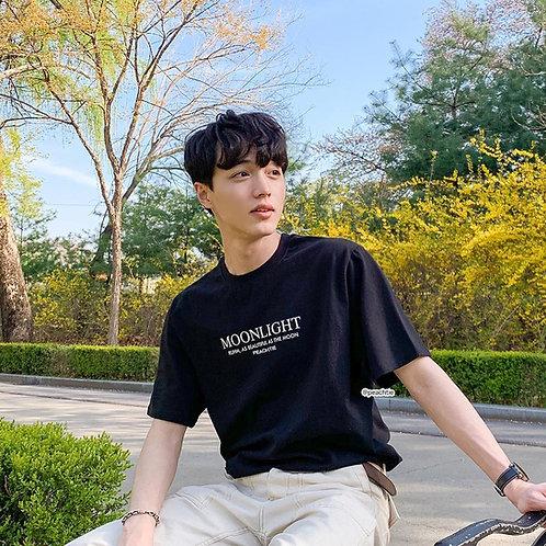 MOONLIGHT korean shirt [BLK/WHT]