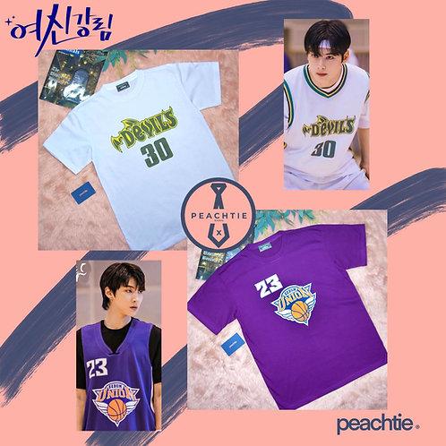 True Beauty Inspired Sebom HS Shirt[WHT/PRPL]