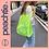 Thumbnail: Fishnet Korean Tote Bag [NEON/BLK]