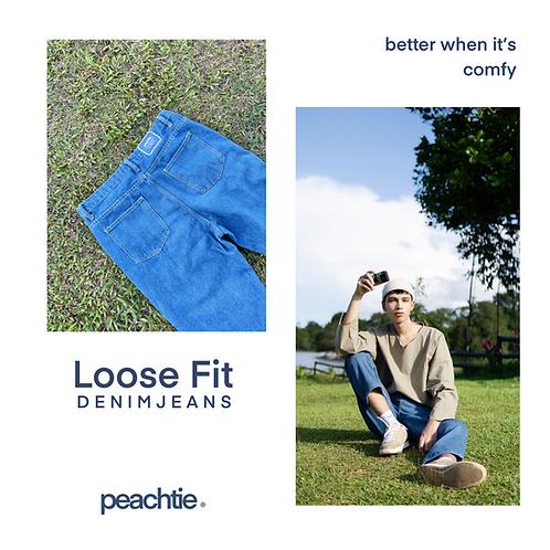 Loose Fit Denim Pants
