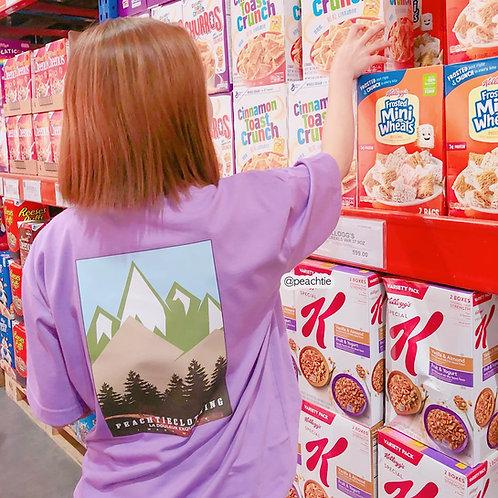 IWANTMORE korean shirt [LAV/ORANGE]