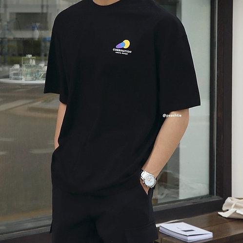 COMBINATION Korean Shirt [BLK/WHT] Unisex