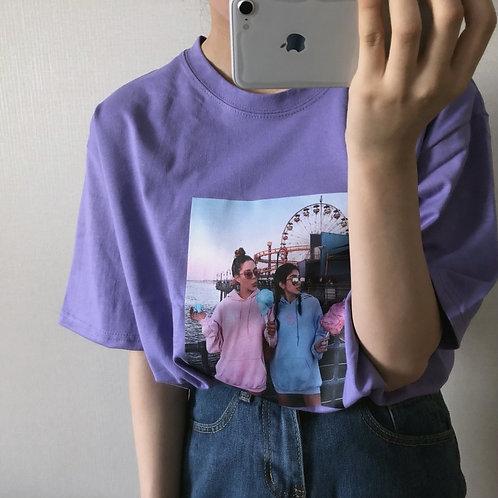 BFF Korean Shirt (High Quality) UNISEX [LAVENDER]