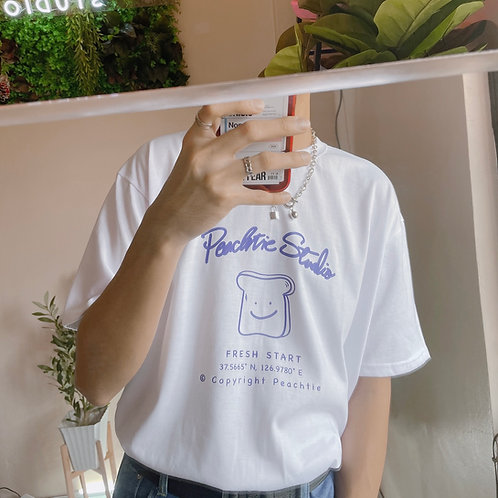 TOAST Korean shirt [WHT/BLU] Unisex