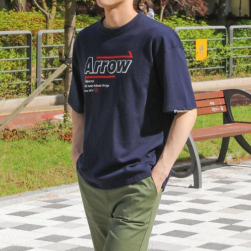 Arrow Korean Shirt [NAVY]  UNISEX