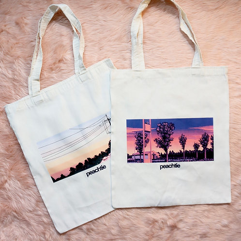 Sunset sky totebag