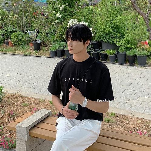 Balance Korean Shirt [BLK] Unisex