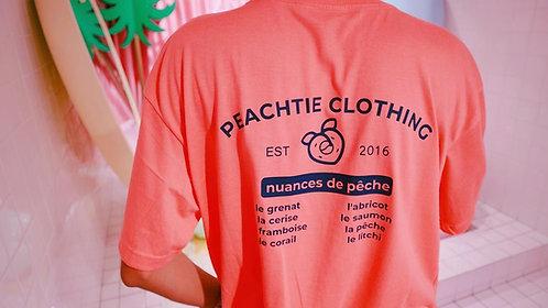 PECHE Korean Shirt [ ROYAL BLUE/ CORAL PEACH]