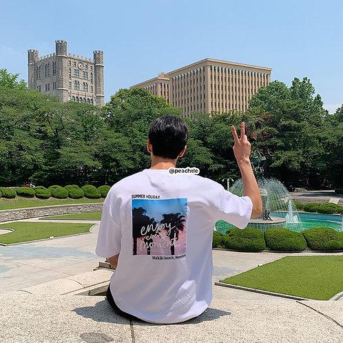 SUMMER HOLIDAY korean shirt [WHT]