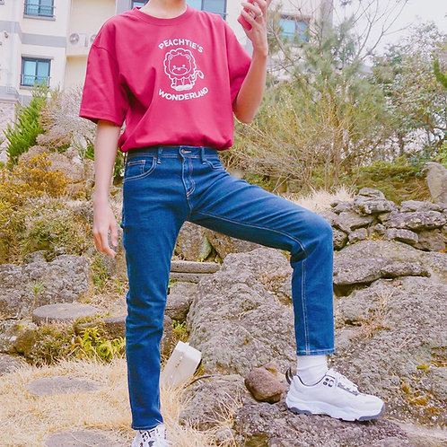 WONDERLAND korean shirt [MAROON}