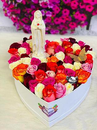 Corazón Rosas Mística