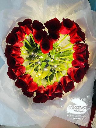 Corazón Amor de Rosas
