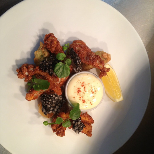 Calamari Fritti with Squid Crackling