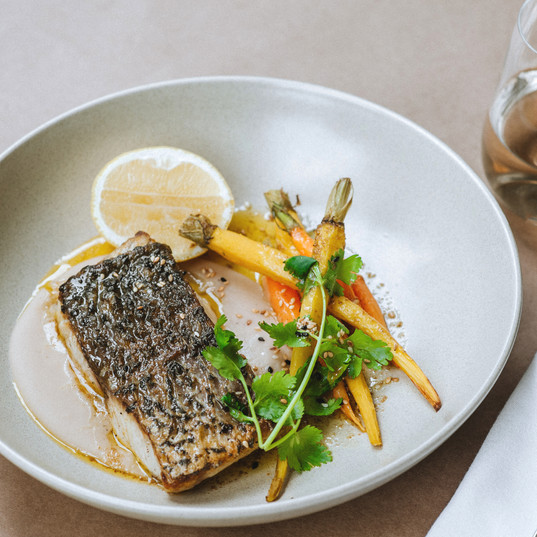 Barramundi, Dutch Carrot, Vadouv & butter