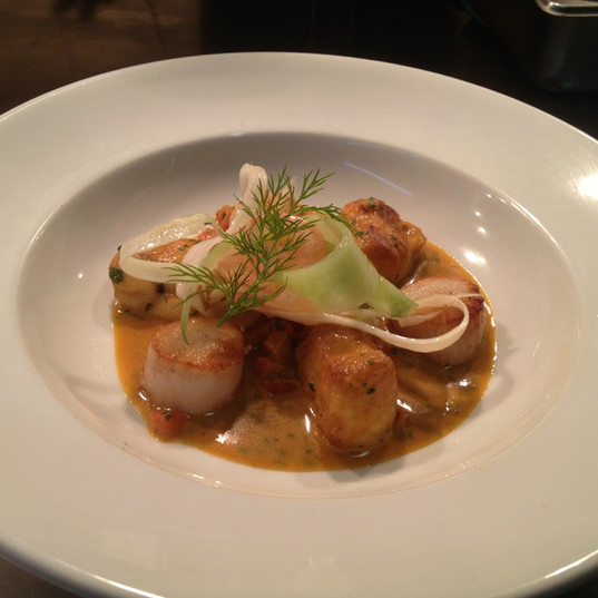 Scallops And Lobster Bisque