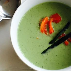 Gurken-Lachssuppe