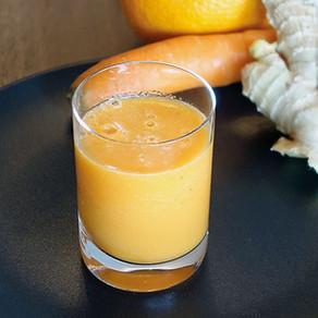 Orangen-Rüebli-Ingwer Smoothie