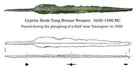 Bronze age spearhead found near Torrington.