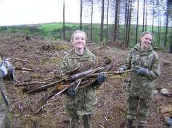 Cadets helping to clear site
