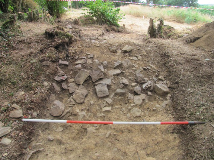 Trench 1 outer stone bank