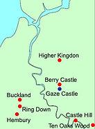 Location of enclosd settlements in the Torridge area.