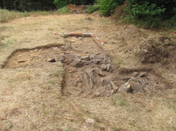 Trench 2 stone line, looking N