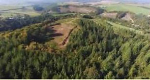 Aerial view of Berry Castle hillfort, after clearance.