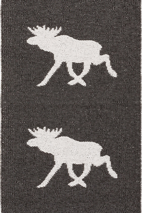Large Black Moose Rug