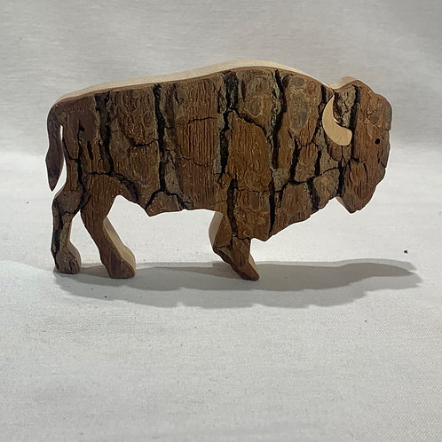 Small Standing Bison