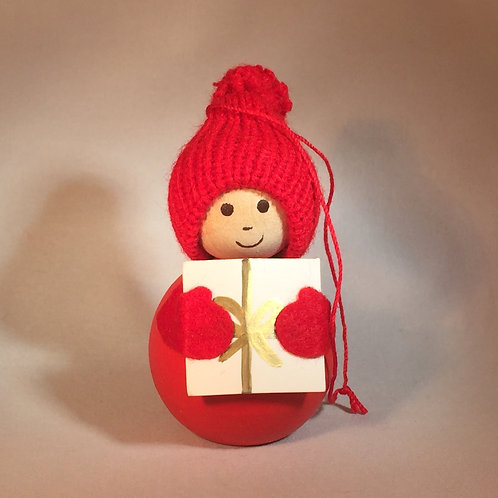 Red Boy Ornament w/Package