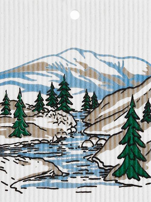 Mountain Stream by Harry W. Smith Wash Towel (MIN 6)