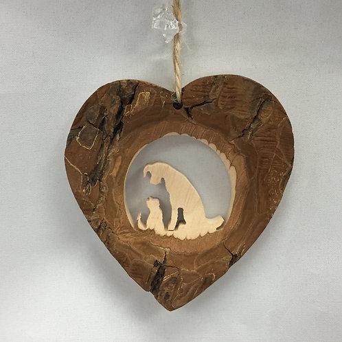 Dog & Cat Heart Ornament