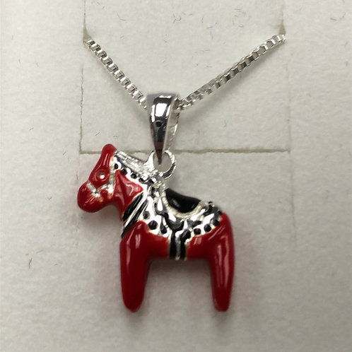 Red Dala Horse Necklace