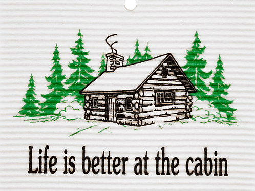 Life is Better at the Cabin by Harry W. Smith Wash Towel (MIN 6)