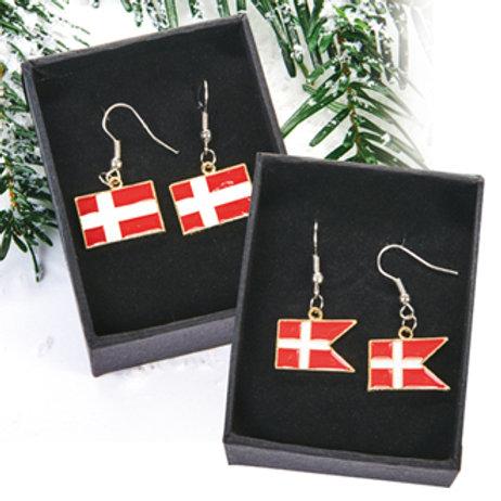 Danish Flag Earrings, 2 Assorted