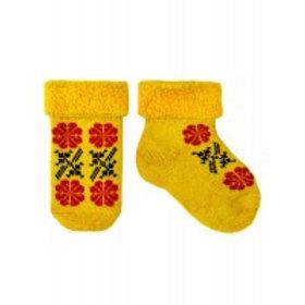 Mustard Muhu Baby Terry Socks & Mitten Set