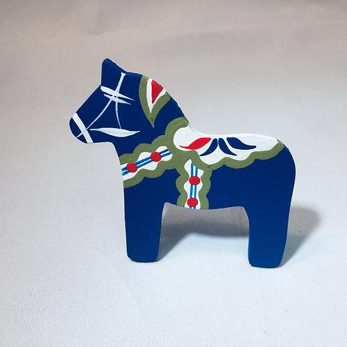Blue Dala Horse Magnet