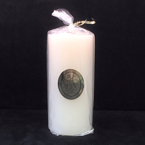 Tall White Pillar Candle