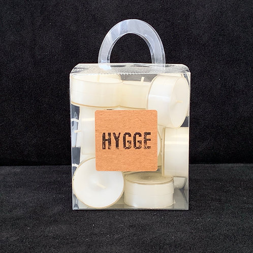 HYGGE White Clear Cup Tealights in Box